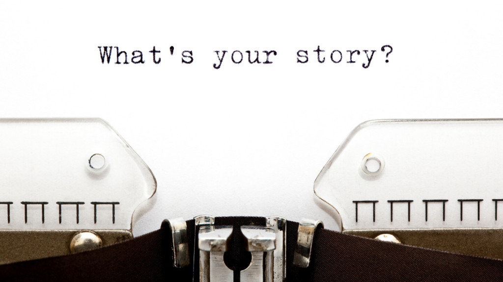 telling your story, photo from canva