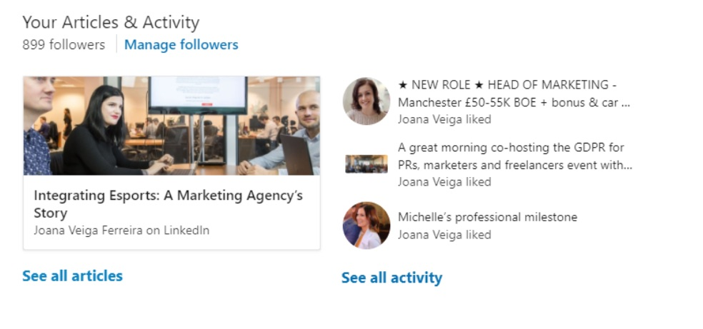 Creating the perfect LinkedIn profile for a digital marketing job