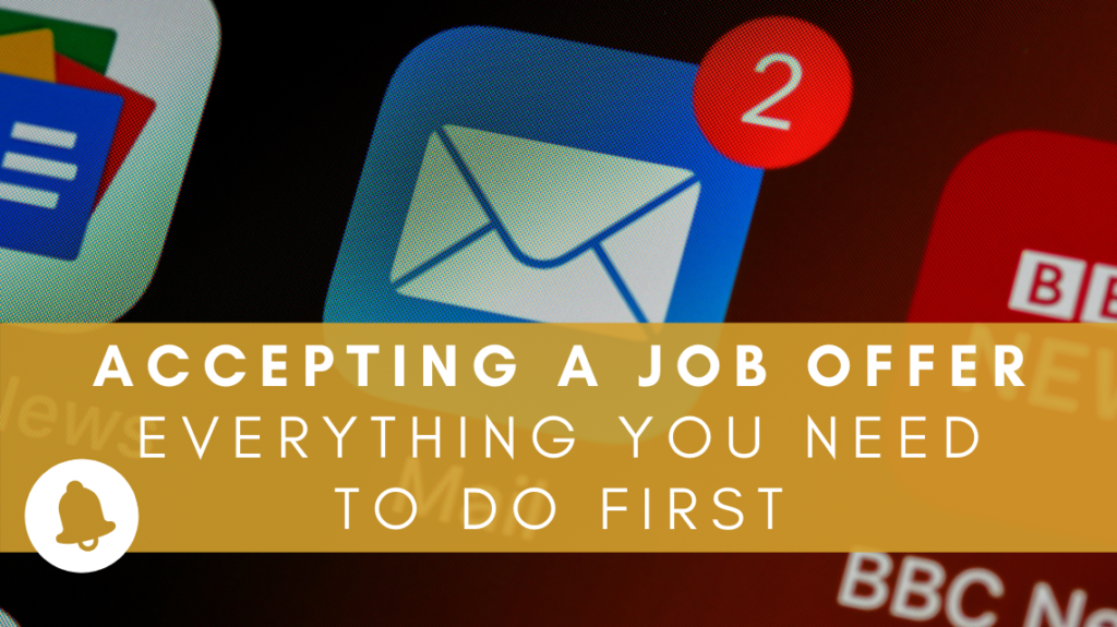 Accepting a job offer - everything you need to do first by Brett Jordan on Unsplash