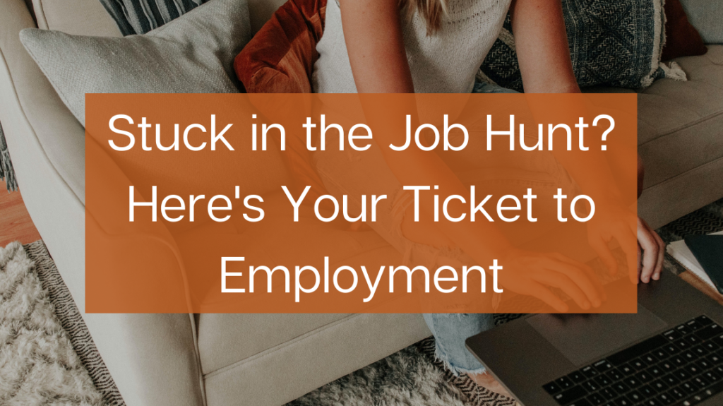 Stuck in the Job Hunt Here's Your One-way Ticket to Employment by Corinne Kutz on Unsplash